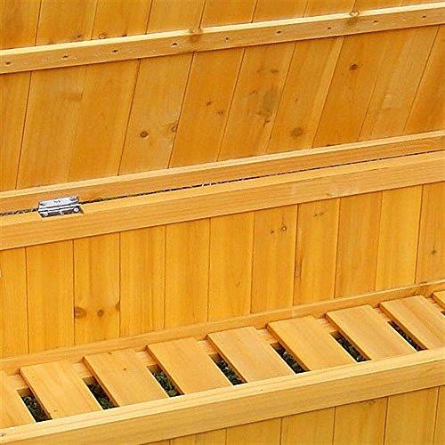 Holz Truhenbank Sitzbank Gartenbank Holztruhe Holzbank Auflagenbox Gartenbox - 4