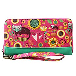 CHUMBAK Womens Fox In Garden Long Womens Wallet (Multi Color)