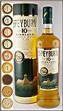 Speyburn 10 Jahre Single Malt Whisky mit 9 DreiMeister Edel Schokoladen in 9 Geschmacksvariationen, kostenloser Versand