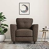 Amazon Brand - Solimo Royale 1 Seater Fabric Sofa (Brown)