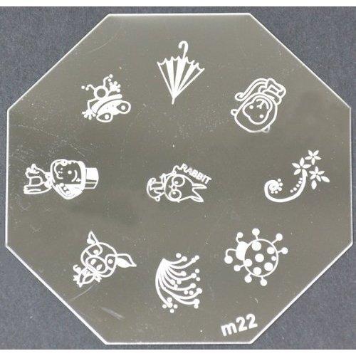 Nail Art emboutissage des tôles - M01 CODE : M22-plaque