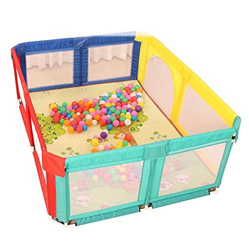 WYQ Laufgitter Ställe 4 Farben Große Baby-Zaun-Spielecke, Sicherheits-Spielplatz für Babys und Kinder, Babylaufstall und Krabbelmatte S 2 Größen zur Auswahl (größe : 180×190x70cm)