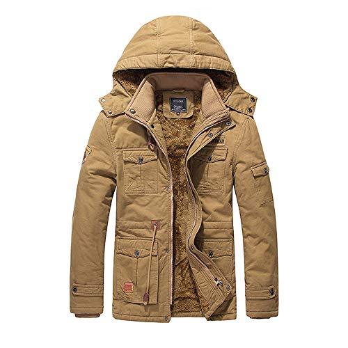 Herren Winterjacke Männer Zipper Mantel Fleece Hoodie Mode Wunderschön Winter Herbst Verdickte...