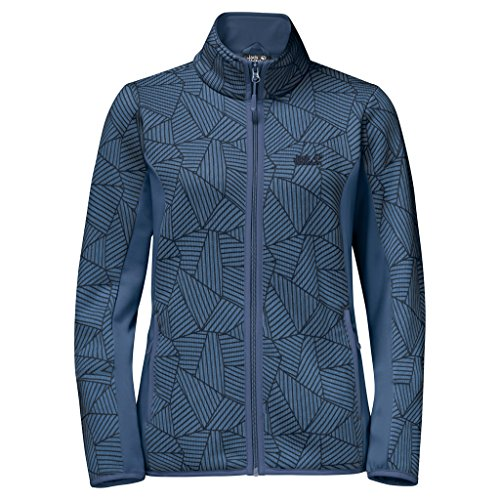 Jack Wolfskin Veste fleece Forest Leaf Femme Ocean Wave