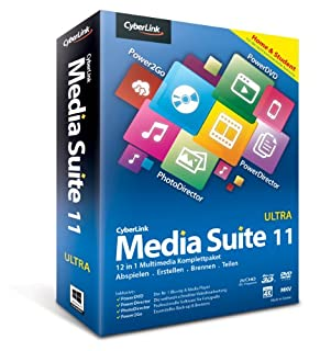 Cyberlink Media Suite 11 Ultra Home & Students [import allemand] (B00E1C64PI) | Amazon price tracker / tracking, Amazon price history charts, Amazon price watches, Amazon price drop alerts