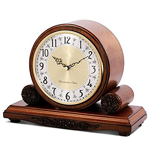 KHSKX Solid wood clock musical chime clock living room creative