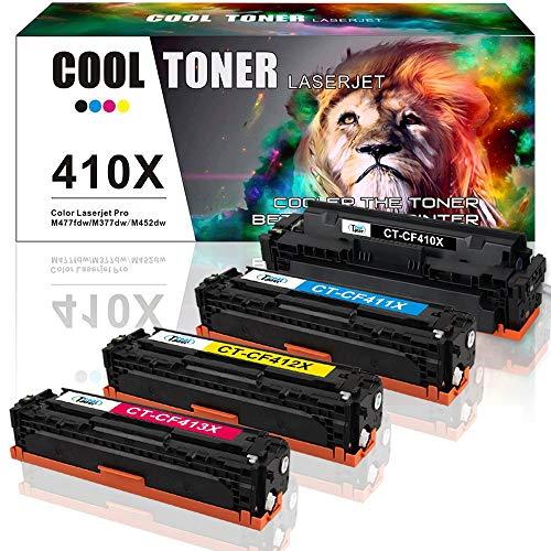 Cool Toner Kompatibel Toner Cartridge Replacement für HP CF410X CF411X CF412X CF413X 410X 410A für HP Drucker Color Laserjet Pro M452 MFP M477 M377 Toner HP MFP M477fdw M477fnw M477fdn M452dn M452dw -