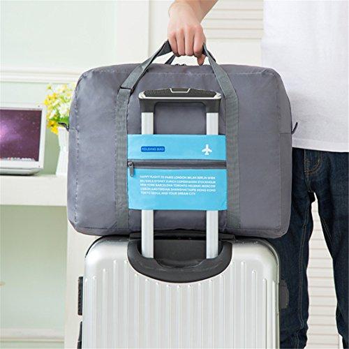 Tragbares Handgepäck Faltbare Reisetasche, 32L Faltbare Reise-Gepäck Taschen Leichtgewicht Sporttaschen für Sports Turnhalle Urlaub (orange) orange