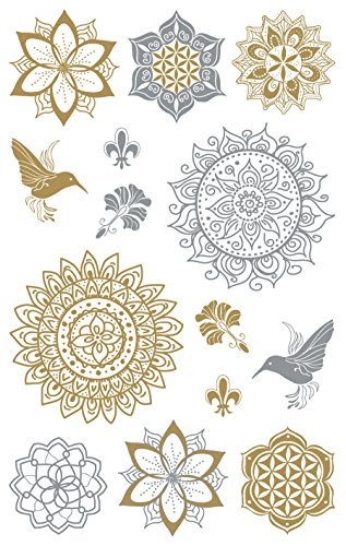 AVERY Zweckform 55657 Metallic Sticker Floral 12 Aufkleber - Metallic-sticker