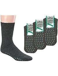 3 Pack Polar cálidos calcetines de ABS Completo de peluche, con lana de oveja,