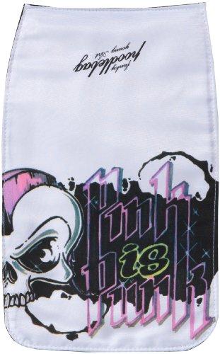 Poodlebags young Art - slogan- ritsch ratsch small Lid Skull- 3YA0312RRSLSKUW, Unisex - Kinder Messengerbags, Weiss (white), 18 x  1 x 27 cm (B x H x T) Weiss (white)