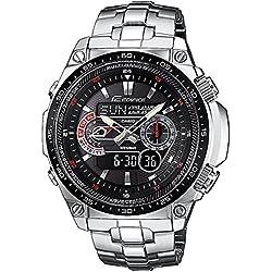 Casio Reloj Analógico/Digital de Cuarzo para Hombre con Correa de Acero Inoxidable – ECW-M300EDB-1AER
