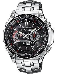CASIO Edifice ECW-M300EDB-1AER - Reloj de caballero de cuarzo, correa de acero inoxidable color plata