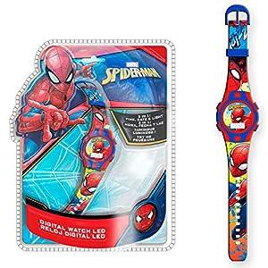 Spiderman 1 Reloj de Pulsera Digital luz New Packaging 3 (MV15495), Multicolor (Kids Licensing
