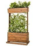 Hochbeet Holz Pflanztisch Pflanzbeet Kräuter-Beet Tomaten Rankhilfe mit Seilen 82 x 50 x 145 cm