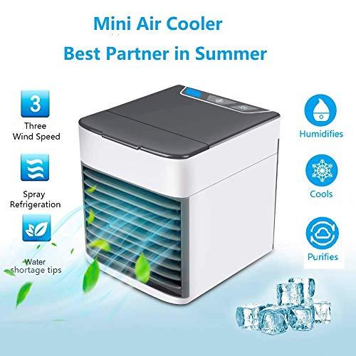 Condizionatori portatili Mini USB Air Cooler Climatizzatore Freddo Raffrescatore Condizionatore Portatile Raffreddatore D'aria Evaporativo 3 in 1 Dispositivo di Raffreddamento