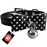 Pawzone Black Stylish Puppy and Cat Collar with Bell