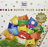 RITTER SPORT Bunter Teller (3 x 230 g), Schokoladen-Geschenk, Süßigkeiten zu Weihnachten, Schale gefüllt mit Schokolade, schöne Tischdeko