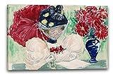 Maurice Brazil Prendergast - Großes Boston Public Garden Sketchbook: Eine Frau liest ein Buch (1895–97), 60 x 40 cm (weitere Größen verfügbar), Leinwand auf Keilrahmen gespannt und fertig zum Aufhängen, hochwertiger Kunstdruck aus deutscher Produktion