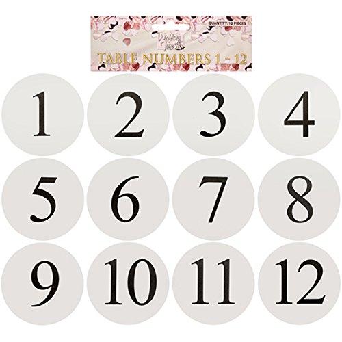 able Numbers for Holders (1-12) - TNW (Anzahl Karte Halter Für Hochzeiten)