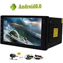 "La cámara trasera gratuito inalámbrico incluido! Android 6.0 cuádruple núcleo 2 DIN Car Stereo 7"" pantalla táctil PC del coche de Autoradio GPS FM / AM RDS Receptor Soporte SWC Bluetooth OBD2 DAB + USB / SD 3G / 4G WIFI Cam-In"