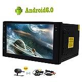 """Free Wireless telecamera posteriore gratuita! Android 6.0 Quad-core 2 DIN autoradio 7"""" touch screen PC dell'automobile di Autoradio GPS Navigation FM / AM RDS Ricevitore Supporto SWC Bluetooth OB"""