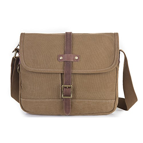 Gootium 50514-Borsa a tracolla Casual in tela, piccoli Bookbags Caffè
