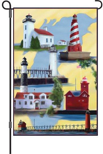 �Garten Brilliance Flagge, Michigan Leuchtturm, 12von 18 ()