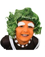 CHILDS ILOVEFANCYDRESS® CHOCOLATE FACTORY WORKER WIG FANCY DRESS ACCESSORY GREEN HAIR KIDS