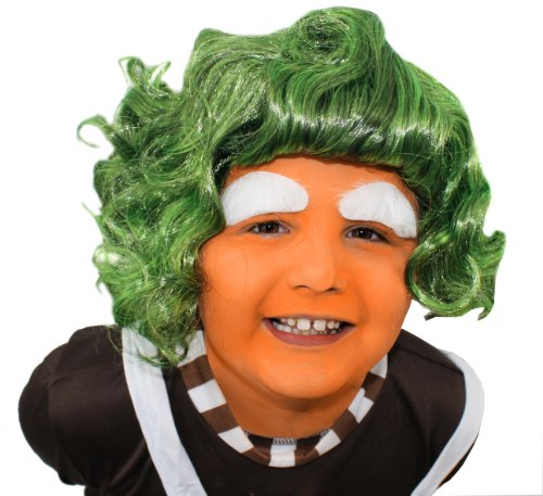 Kids Green Oompa Loompa Wig