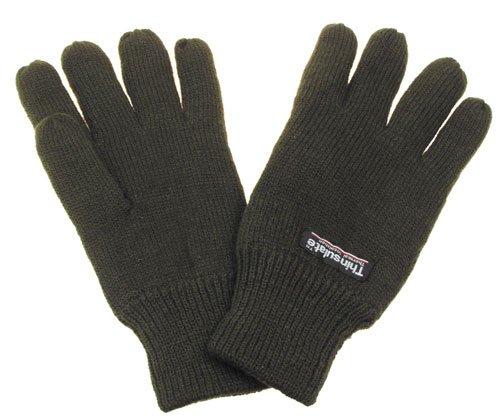 Strick-Fingerhandschuhe, Thinsulatefütterung, oliv, Größe M