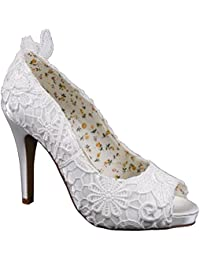 Perfect Vintage Ivory Lace Wedding Shoes Polly