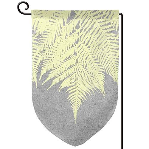 Lilyo-ltd Garten-Flagge, Beton, Gelb, 31,8 x 45,7 cm, doppelseitig, Polyester