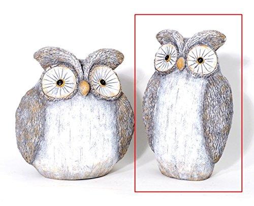 Figurine animale Figurine * Hibou * Polystone Gris – H36 cm
