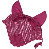 Generic Pro Comfort Rhinestone Cotton Crochet Fly Veil Horse Ear Bonnet/ Net/ Mask