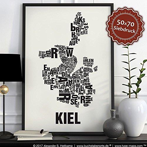 Kiel Buchstabenort Schwarz auf Naturweiß