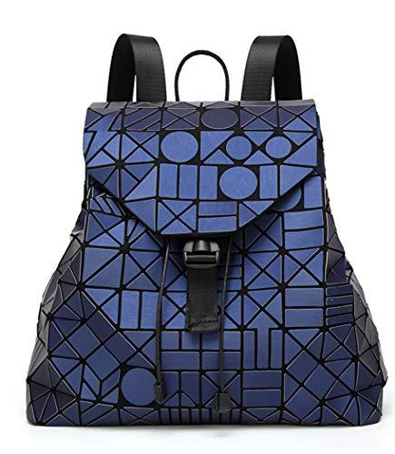 YOJDTD Women's Bag Backpack Bag Geometric Figure Backpack Folding Backpack, Royal Blue