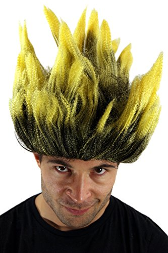 WIG ME UP ® - LM-19-P103TPC2B Perücke Fasching Dragonball Dämon Loki Mad Scientist