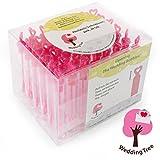 WeddingTree - Soplador de pompas de jabón de calidad, 48 unidades con empuñadura de corazón, para...