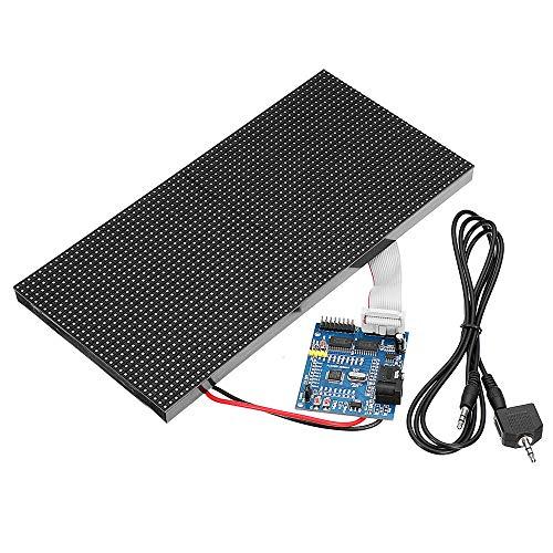 DENG XIA Fernbedienung LED-Leuchtanzeige Dot Matrix Board 32X64 Assembled Colorful Music Spectrum