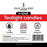Zan Village Homeware Lot de 100 Bougies Chauffe-Plat 4 Heures de Combustion 12 g
