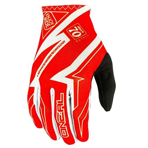 O'Neal Matrix MX Handschuhe RACEWEAR Rot Motocross Enduro Offroad, 0388R-7, Größe XL (Atv-rote Handschuhe)