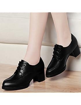 KPHY-Los Tacones Altos Son Zapatos Versión Coreana Del Documental Con Gruesos Zapatos Zapatos De Cuero Negro Pequeño...