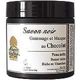 Gommage et Masque au Chocolat et Savon Noir - Peau nette et Teint éclatant - 250g