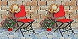 2 Kettler Klappstühle Lille Comfort 0310118-7030 Klappstühle Anthrazit/Rot Aluminium/Outdoorgewebe L/B/H ca. 58/50/87 cm
