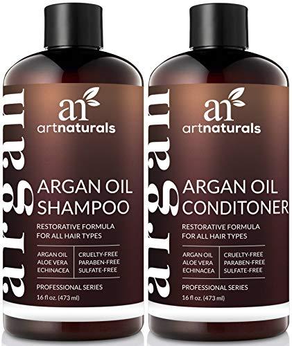 ArtNaturals Arganöl Shampoo und Conditioner Set - (2 x 16 Fl Oz/473ml) - Komplette Tägliche Pflege - Mit 100{8b78ba3a30269941d281806a085e8cae95dfa2b7da3b55b55ec1f60b9ea52d07} Arganöl und Naturreinen Pflanzlichen Extrakten - Sulfat-frei