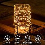 Kupferdraht 100er LED Lichterkette für innen und außen - 12 Meter | Mit Netzstecker NICHT batterie-betrieben | 100 LEDs warm-weiß | kein lästiges austauschen der Batterien | Kupfer Draht von CozyHome