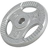 GORILLA SPORTS® Hantelscheiben-Set 27,5 kg Gusseisen Gripper – 2 x 1,25 kg + 2,5 kg + 4 x5 kg Gewichte mit 30/31 mm Bohrung