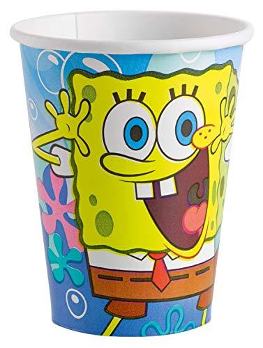 amscan 997775 8 Papierbecher Spongebob, 266 ml, Mehrfarbig