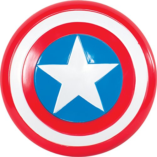 tain America Schild, Action Dress Ups und Zubehör, One Size (Marvel Captain America Kostüme)